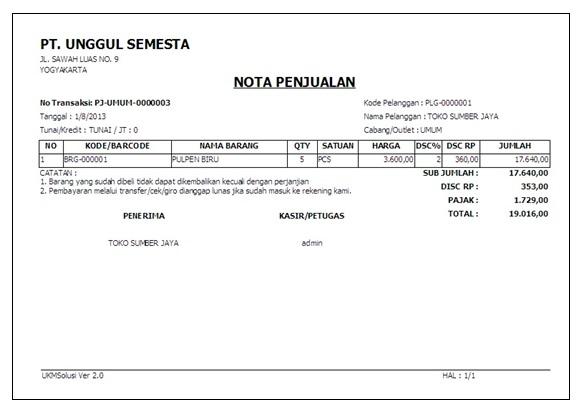 Contoh Form Nota Retur Faktur Pajak Contoh Kr